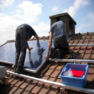 solar roof installation